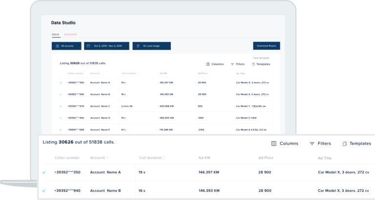 freespee data studio accounts view for marketplaces